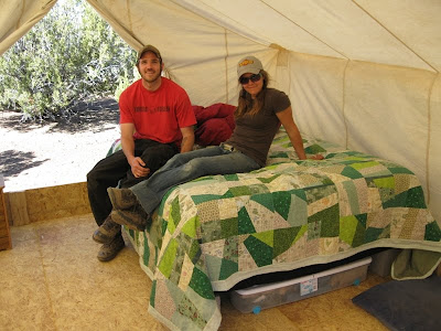 We set up a wall tent which is a big canvas tent with walls- big enough to stand up in (14 x 16 feet in area) put our bed and couch and ...  sc 1 th 194 & GypsyTree