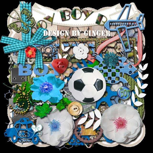 Boy freebie elements- Design by Ginger