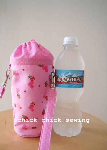 Chick Chick Sewing Handmade Water Bottle Holder