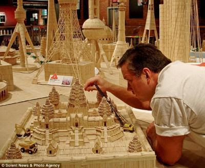 things made out of toothpicks