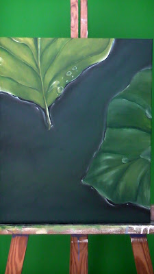hojas sobre agua 2