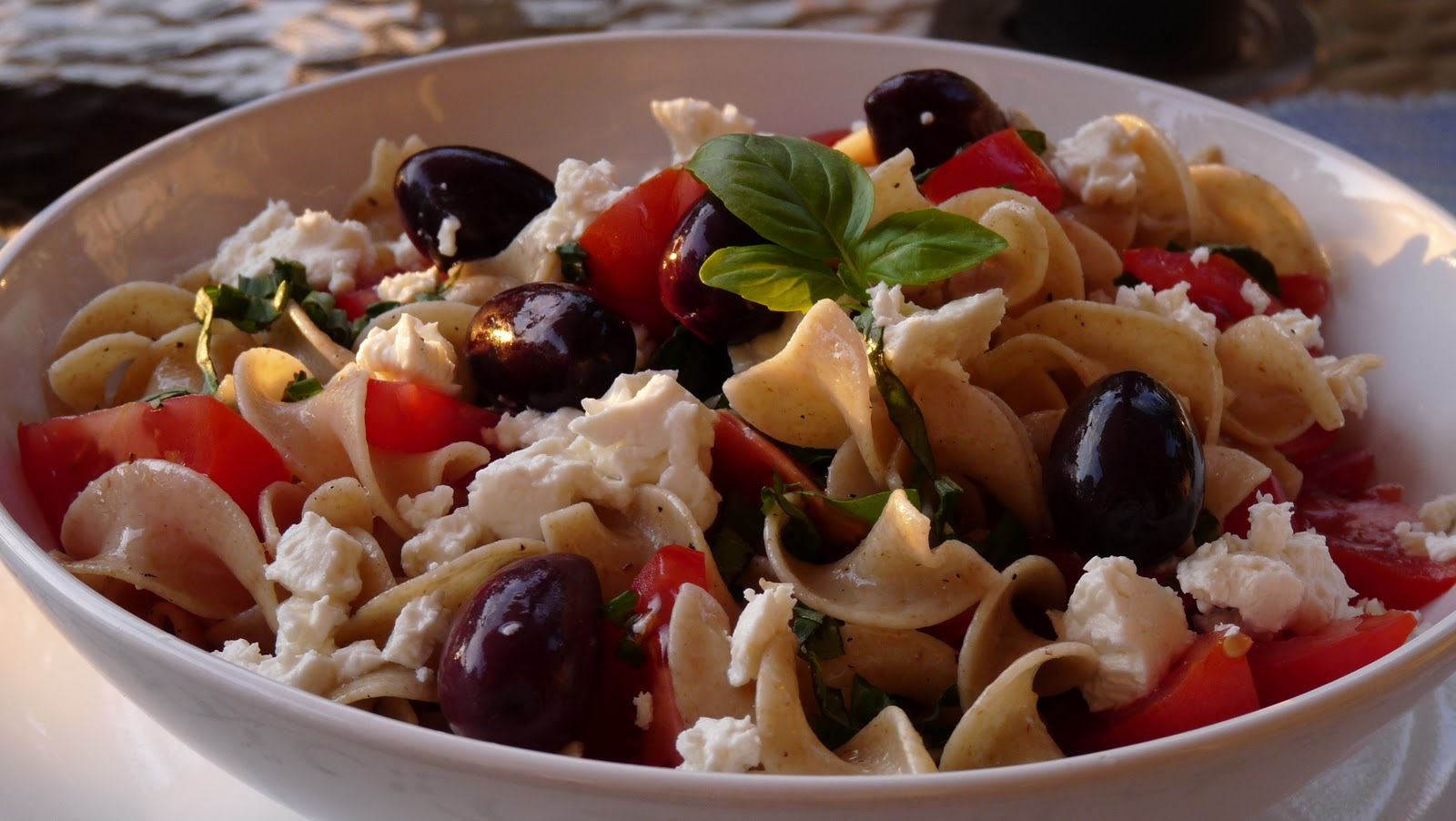 Heirloom Tomato–Basil Pasta With Olives And Feta Recipe ...