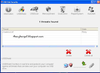 USB Disk Security, thecybergal.blogspot.com