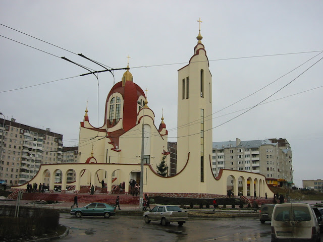 Saint Peter Greek Catholic Church in Ternopil city (Western Ukraine)
