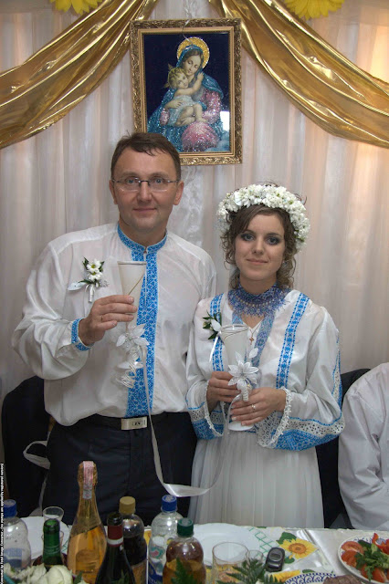 Wedding in Ternopil city (West Ukraine)