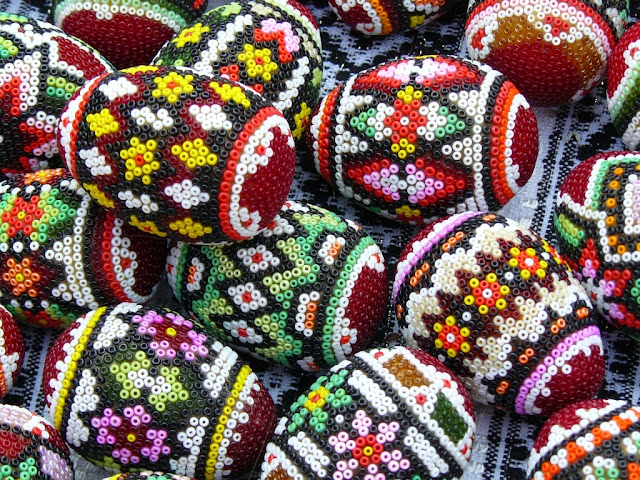 Beaded Easter Eggs Romania