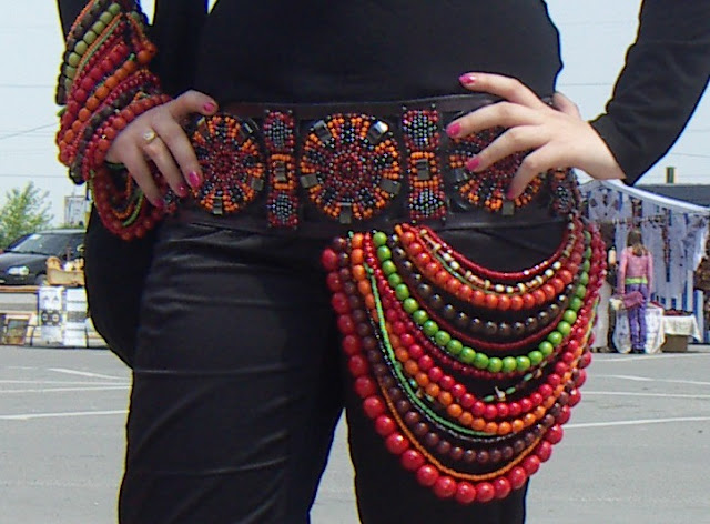 Gorgeous Beaded Belt Handmade Western Ukraine