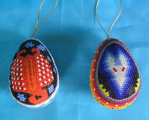 Beaded Easter Eggs Mexico