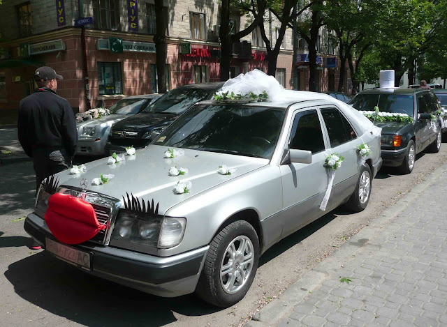 Авто нареченої оригінальний декор Тернопіль