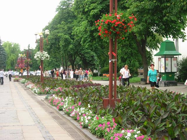 Ternopil Ukraine Sahaidachnogo Street In Flowers