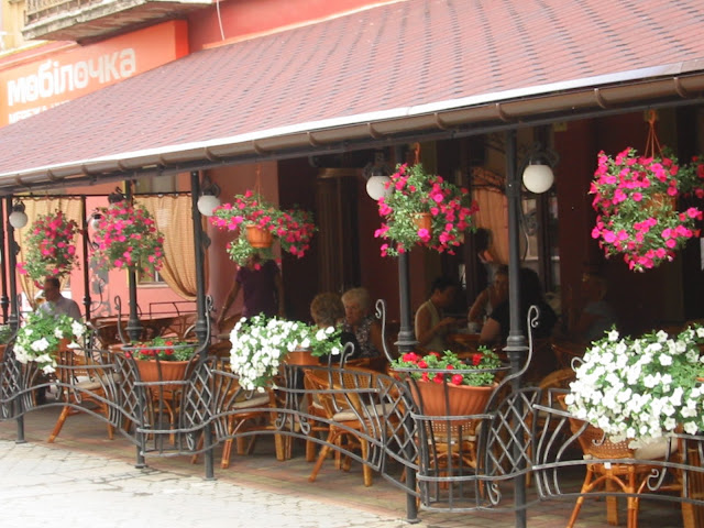 Ternopil Ukraine Europe Bar in Flowers