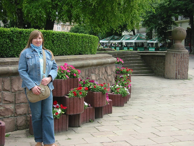 Ternopil West Ukraine Flowers Everywhere