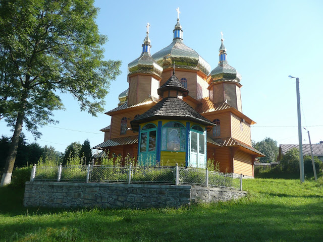 Wooden Church Vorokhta Ivano Frankivsk Region Ukrainian Carpathians