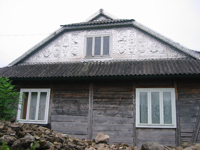 Metal Stamping House Roof Carpathian Mountains Western Ukraine
