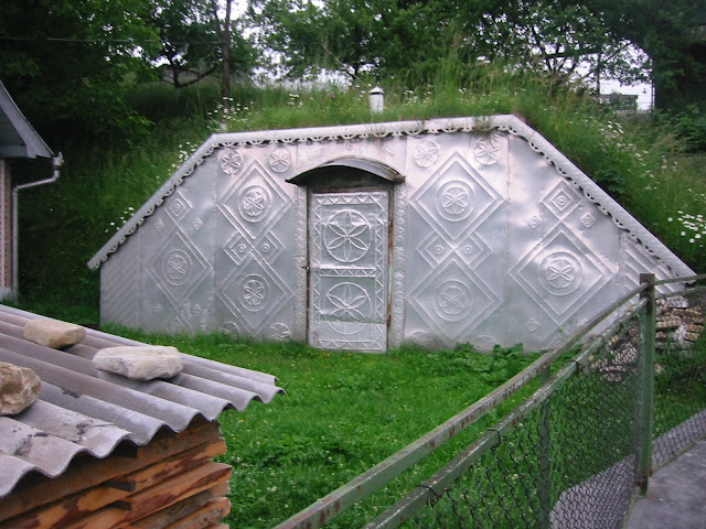 Metal Stamping Root Cellar Carpathian Mountains Western Ukraine