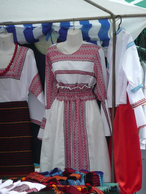 Modern Woven Dress Traditional Ukrainian Patterns