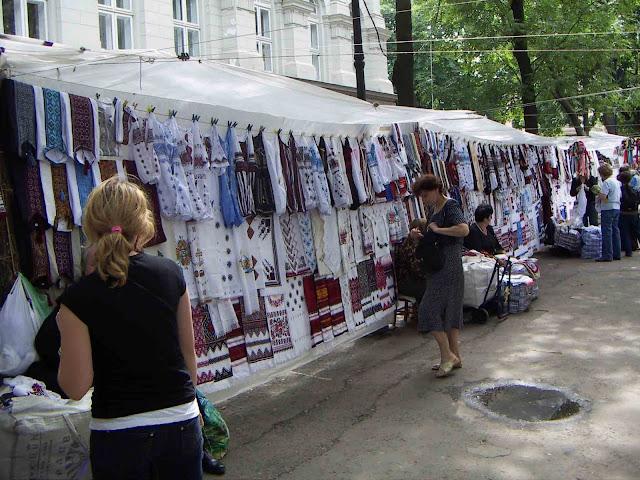 Vernisazh Souvenir Market Lviv Western Ukraine