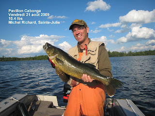 trophy walleye, monster walleye, cabonga reservoir