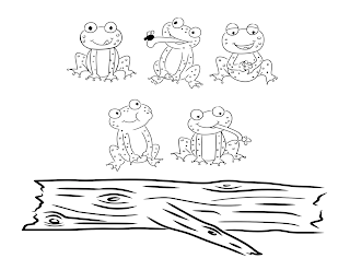bust out your crayons: Five Little Speckled Frogs