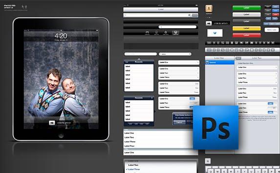 Free iPad GUI PSD Kit bestuipsd
