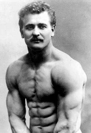 mighty physique of Eugen Sandow