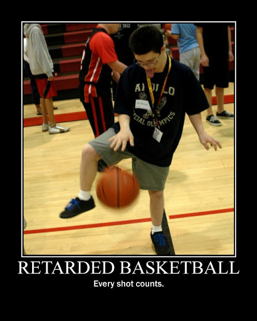 Retarded Basketball motivational poster