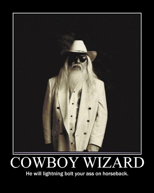 Cowboy Wizard demotivational poster