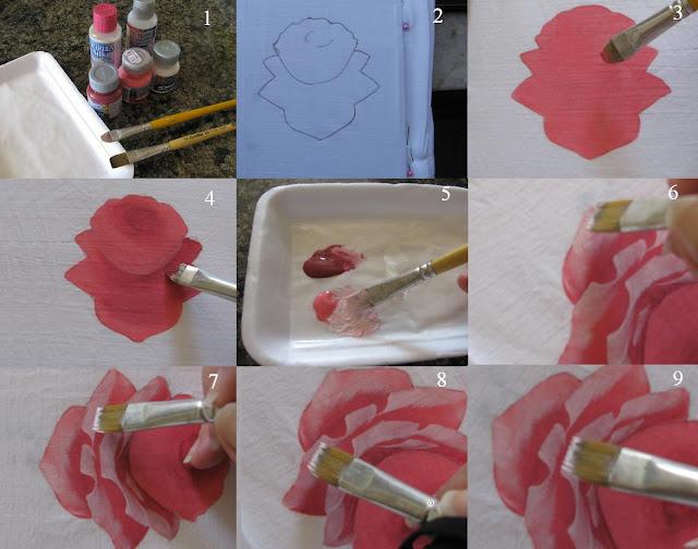 خطوات الورد الجورى القماش