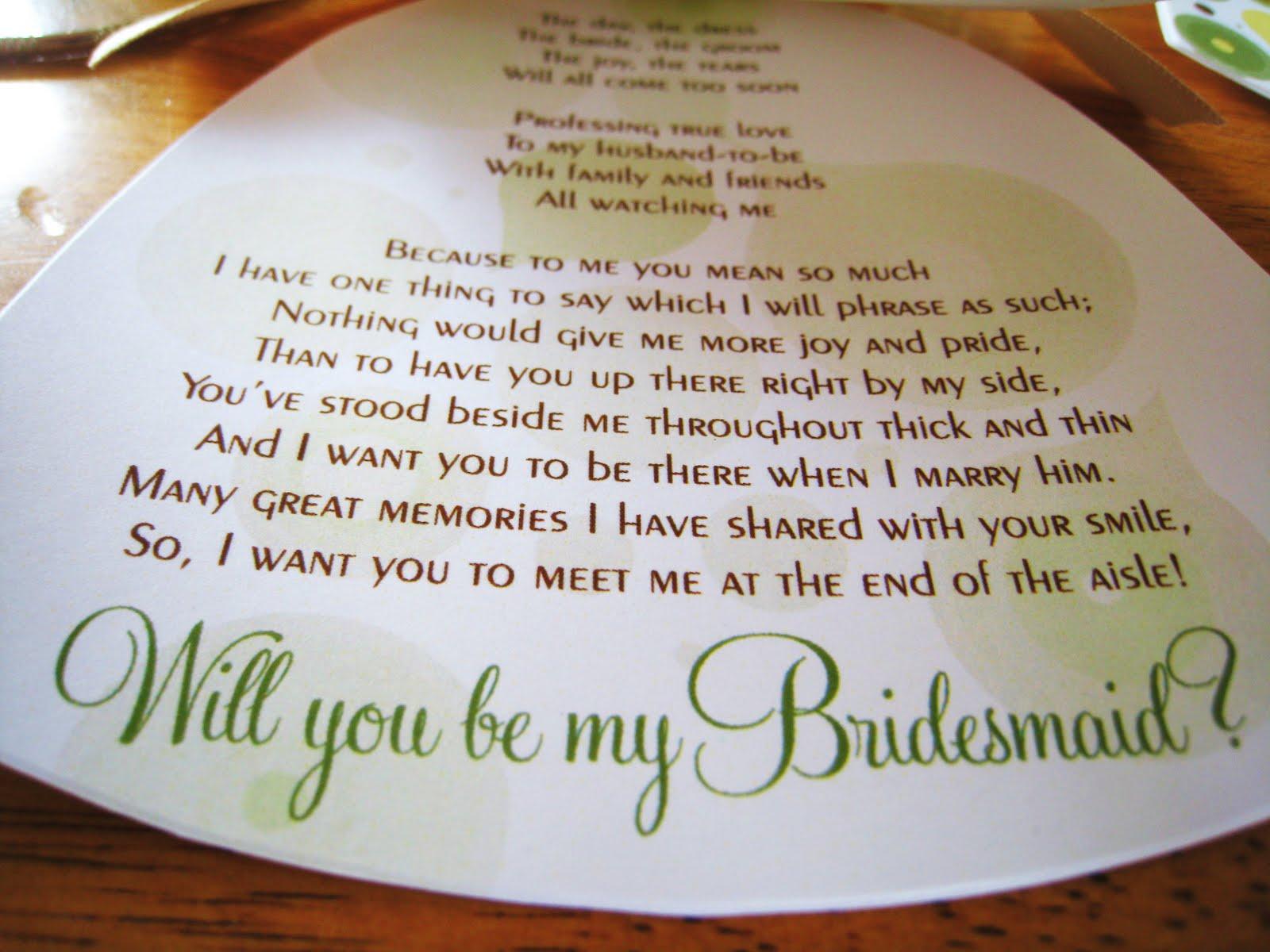 meet the bridesmaids wording
