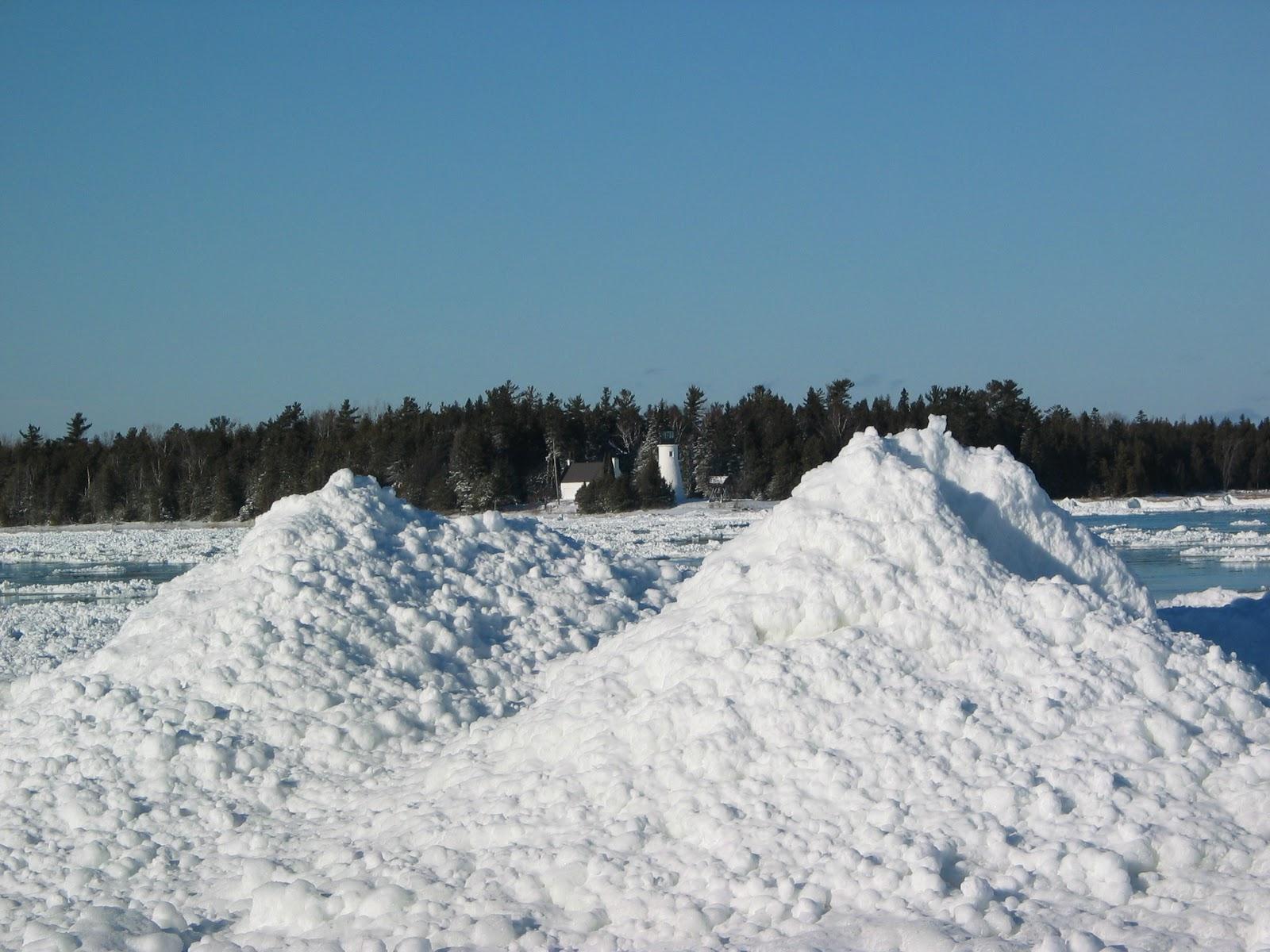 snow piles