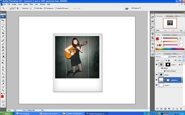 how to make photos look like polaroids in indesign