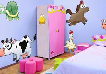 fotos de dormitorios para niños con adhesivos