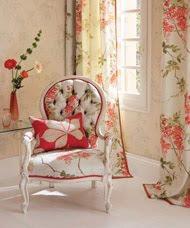 fotos de sala estilo floral