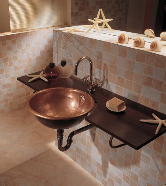 Decora y disena dise o de lavadero de ba o en cobre por ago for Diseno lavadero
