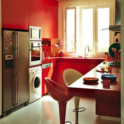 cocinas en rojo