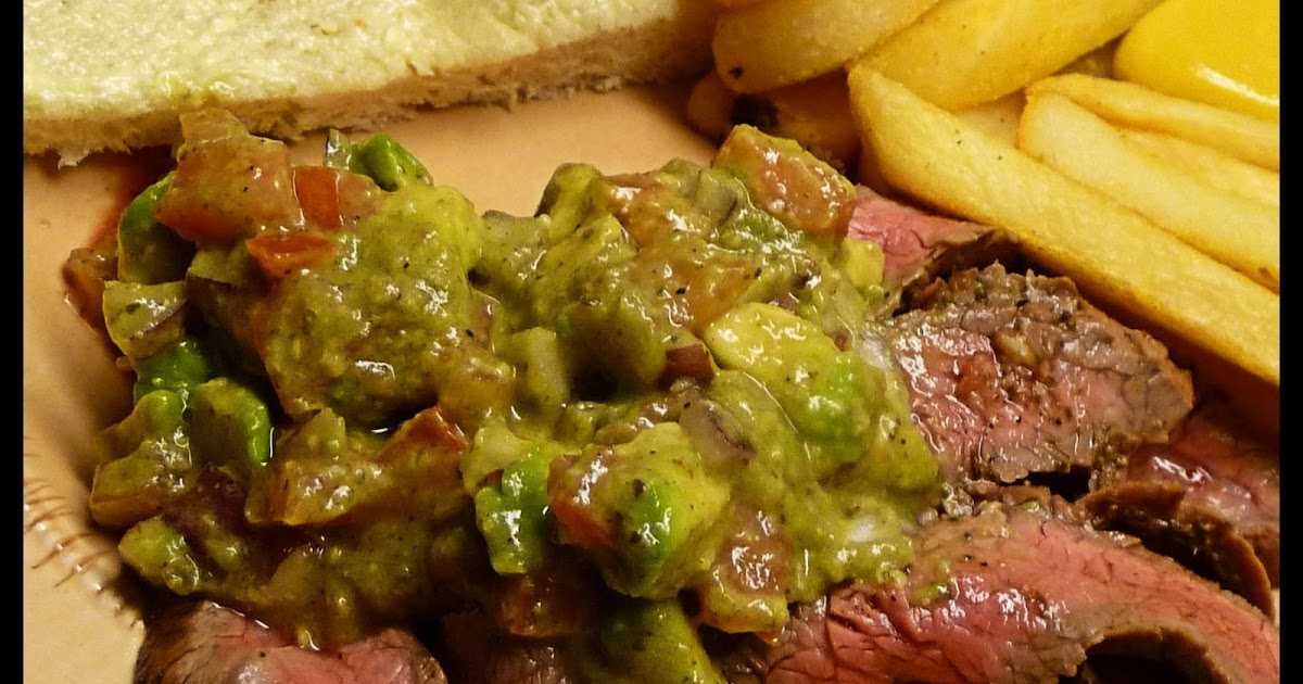 Gumbo Ya Ya: Cuban Flank Steak with Avocado and Tomato Salad
