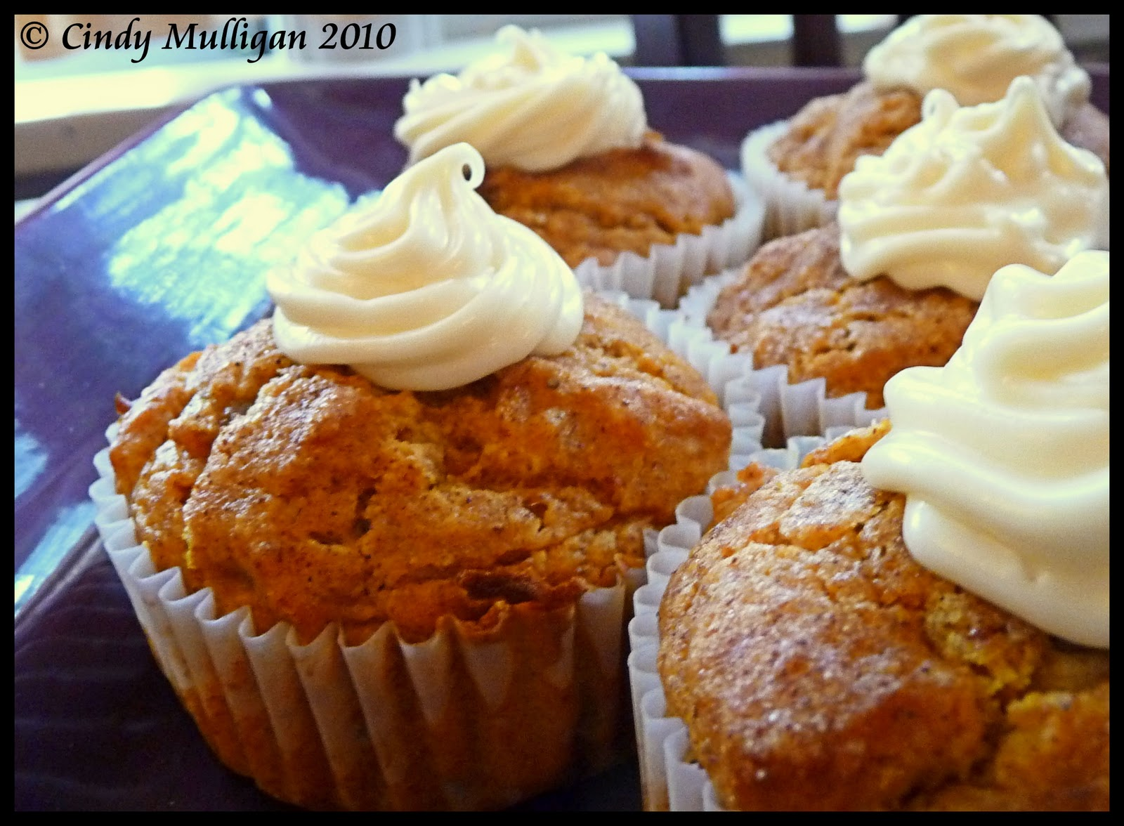 Gumbo Ya Ya: Pumpkin Spice Muffins with Cream Cheese Frosting