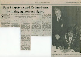 Signing of  Official Twin Town Agreement- 1999