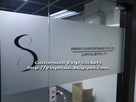 Bon Black Company Name Stickers On Frosted Glass Door