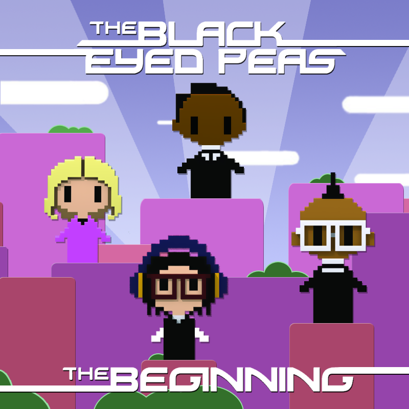 beginning black eyed peas album art. lack eyed peas beginning