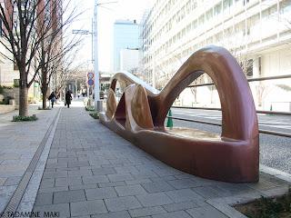 An artistic chair on a street, Tokyo