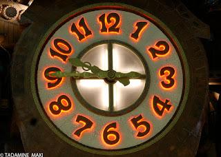 Hayao Miyazaki's designed clock, Tokyo