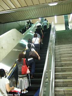 Escalator, Tokyo, Japan