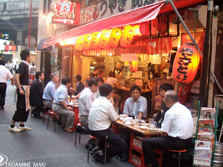 An Izakaya, a Japanese pub, in summer