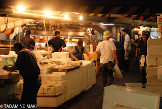 The fish market early in the morning
