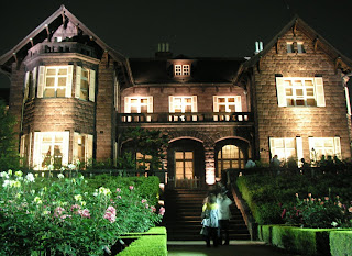 A mansion with a rosy garden, at Furukawa House, in Tokyo