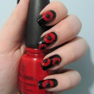 trendy fashion simple dark nail art ideas