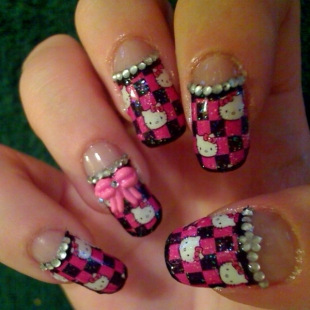 Trendy fashion hello kitty nail art 2011 nails get glam with these refined shades and prints it would be wise to choose a design that encourages you to polish your application skills prinsesfo Choice Image