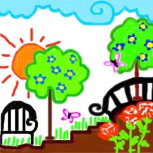 Elecrea el jard n dibujo for Jardin dibujo