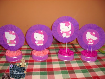 centros de mesa de hello kitty